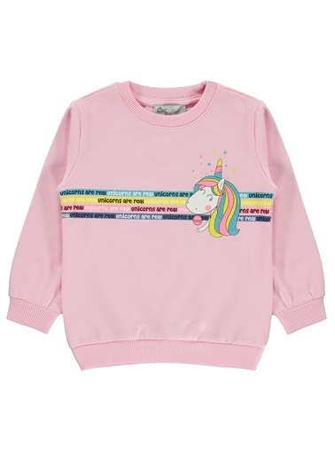 Cvl Kız Çocuk Sweatshirt Pembe